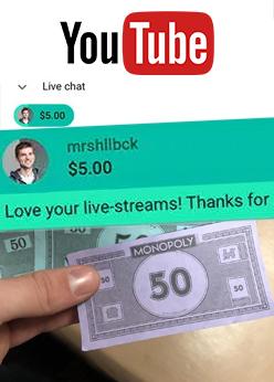 YouTube Fake Donation