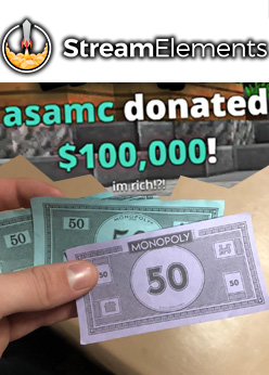 StreamElements Fake Donation